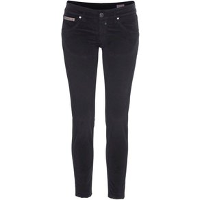 Herrlicher Samthose TOUCH CROPPED Low Waist Ultra-Samtjeans mit Cut Off Saum und Push-up-Effekt