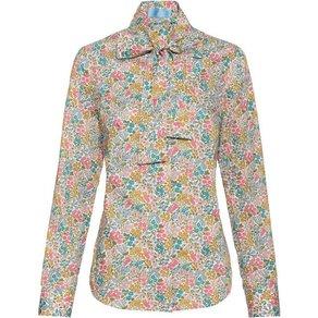 Brigitte von Schönfels Liberty-Bluse mit Blumenmuster