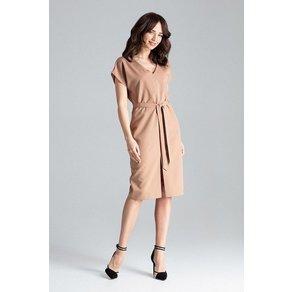 LENITIF Kleid mit elegantem Gürtel