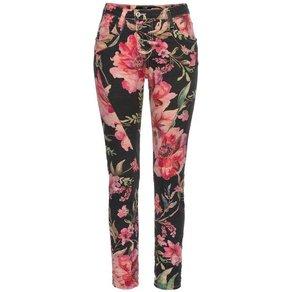 Please Jeans Boyfriend-Hose P78A mit allover Hibiskus Blumen Druck