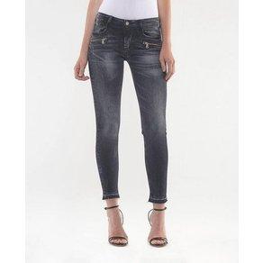 Le Temps Des Cerises 5-Pocket-Jeans POWERC mit ausgefranster Kante am Beinabschluss