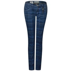STREET ONE Comfort-fit-Jeans mit Karo-Muster
