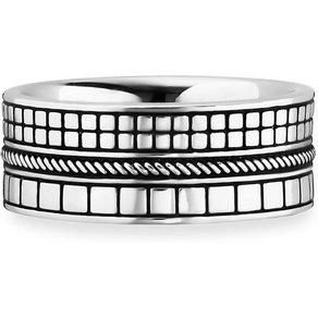 CAÏ Ring 925 Sterling Silber rhodiniert Struktur