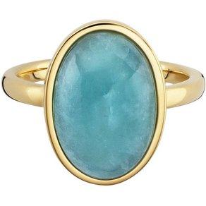 CAÏ Ring 925 Sterling Silber vergoldet Amazonit