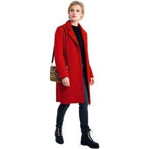 Garcia Wintermantel edler Damen Mantel in Wollmantel-Optik mit Reverskragen