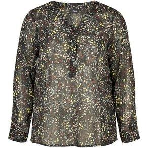 Zizzi Blusenshirt Damen Grosse Grössen Bluse Elegant Transparent Langarm Hemdbluse
