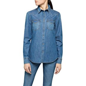 Replay Jeansbluse in lässiger Used-Optik