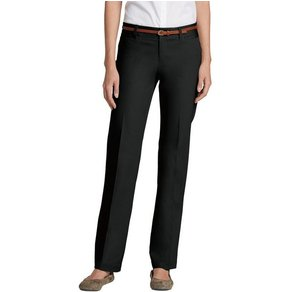 Eddie Bauer Bügelfaltenhose Stayshape Straight Leg Slightly Curvy