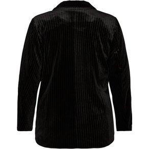 Zizzi Jackenblazer Damen Grosse Grössen Blazer Samt Streifen Anzug Business Jacke
