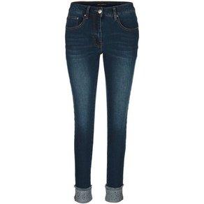 Amy Vermont Jeans mit Paillettenstreifen und Strassteindekoration