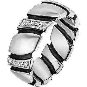 Jobo Fingerring 925 Silber mit 30 Zirkonia