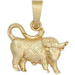 Jobo Sternzeichenanhänger Sternzeichen Stier 925 Silber vergoldet