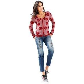 Amy Vermont Jeans mit Pailletten- und Strasssteindekoration
