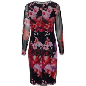 Alba Moda Kleid im ausdrucksstarken grossflächigen Blumendruck allover
