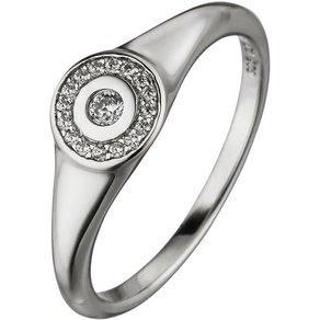 Jobo Fingerring 925 Silber mit 17 Zirkonia