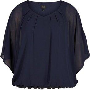 Zizzi Chiffonbluse Damen Grosse Grössen Bluse Elegant 3 4 Arm Chiffon Blusenshirt