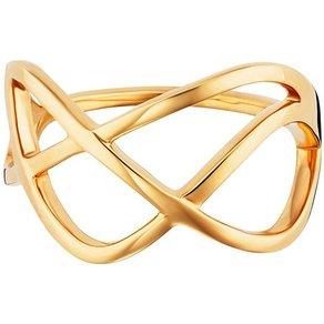 CAÏ Ring 925 Sterling Silber vergoldet geschwungen