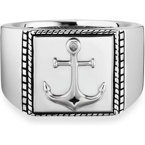 CAÏ Ring 925 Sterling Silber rhodiniert Anker
