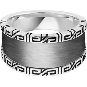 CAÏ Ring 925 Sterling Silber rhodiniert Ornamente