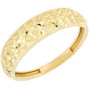 Firetti Goldring mit toller Oberfläche glänzend Ringkopf spiegeldiamantiert