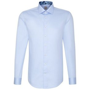 Jacques Britt Businesshemd Slim Fit Slim Fit Langarm Kentkragen Uni