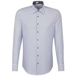 Jacques Britt Businesshemd Slim Fit Slim Fit Langarm Under-Button-Down-Kragen Streifen