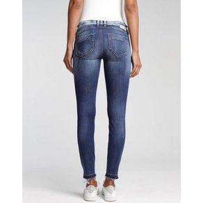 GANG Skinny-fit-Jeans Nena mit gebleachten Highlights über den Knien und am Bund