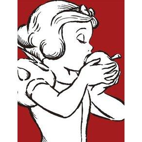 Komar Poster Snow White Apple Bite red