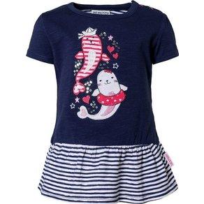 Salt & Pepper Baby T-Shirt mit Pailletten und Volant für Mädchen, Robbe