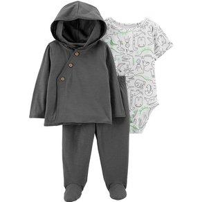 Carter`s Baby Set Sweatjacke + Kurzambody Jerseyhose für Jungen