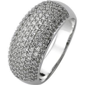 Jobo Fingerring 925 Silber mit 158 Zirkonia