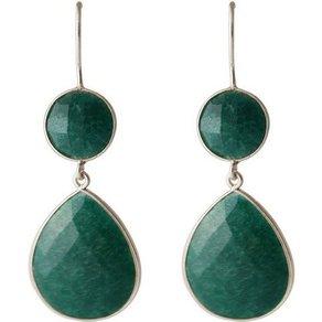 Gemshine Paar Ohrhänger Smaragd Tropfen 925 Silber Made in Spain