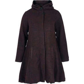 Zizzi Langjacke Damen Grosse Grössen Mantel Jacke Kapuze Klassisch Wintermantel