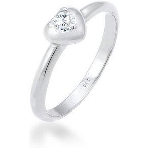 Elli Fingerring Herz Symbol Verlobung Valentin Zirkonia 925 Silber