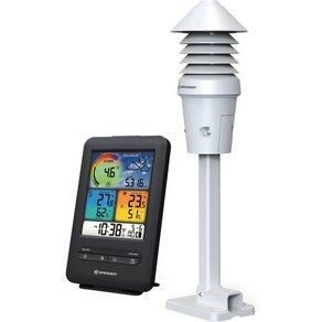 Bresser Wetterstation WLAN Farb-Wetterstation mit 4-in-1 UV Licht-Sensor