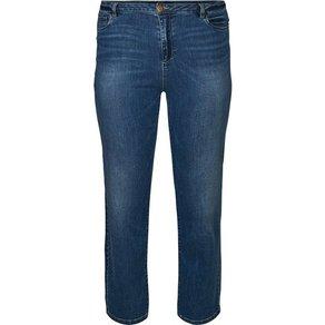 Zizzi Regular-fit-Jeans Damen Grosse Grössen Gemma Jeans High Waist Regular Fit Jeanshose