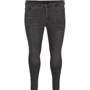 Zizzi Slim-fit-Jeans Damen Grosse Grössen Amy Jeans Super Slim Fit High Waist Jeanshose