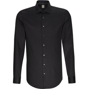 Jacques Britt Businesshemd Custom Fit Custom Fit Langarm Kentkragen Uni