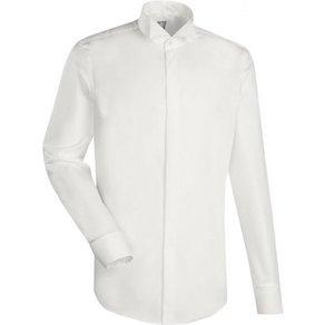 Jacques Britt Smokinghemd Custom Fit Custom Fit Langarm Kläppchenkragen Uni