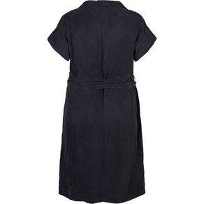ZAY Sommerkleid Damen Grosse Grössen Kleid Cupro Kurzarm Rundhals