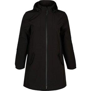 Zizzi Softshelljacke Damen Lange Softshell Jacke mit Fleece Wasserdicht Grosse Grössen