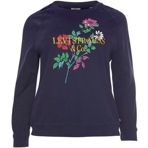 Levi s Plus Sweatshirt Plus Relaxed Graphic Crew mit Stickerei und Print