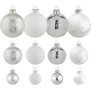 Thüringer Glasdesign Weihnachtsbaumkugel Eisprinzessin 30 Stück mundgeblasen