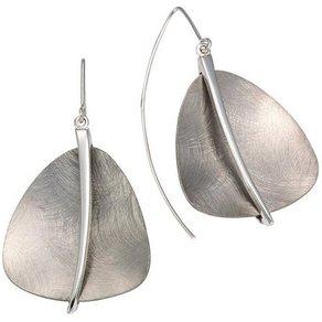 Firetti Paar Ohrhaken rhodiniert grau eismatt