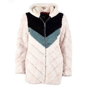 Maze Fake Fur Jacke mit Kapuze Campana