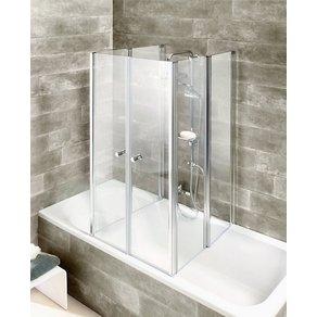 welltime Badewannenaufsatz 6-teilig Faltwand