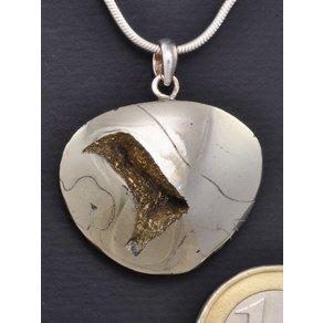Adelia s Kettenanhänger Ammonit Schmuck Stein Anhänger 925 Silber