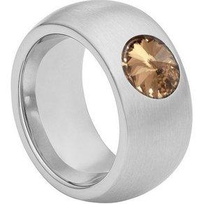 Heideman Fingerring Coma 11 strichmatt mit Perle oder Stein von Swarovski