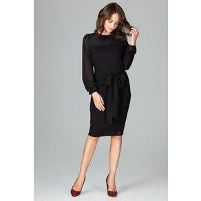 LENITIF Abendkleid mit femininer Schleife