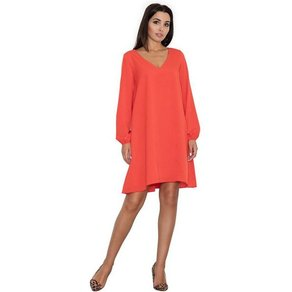 FIGL Jerseykleid mit modischem V-Ausschnitt